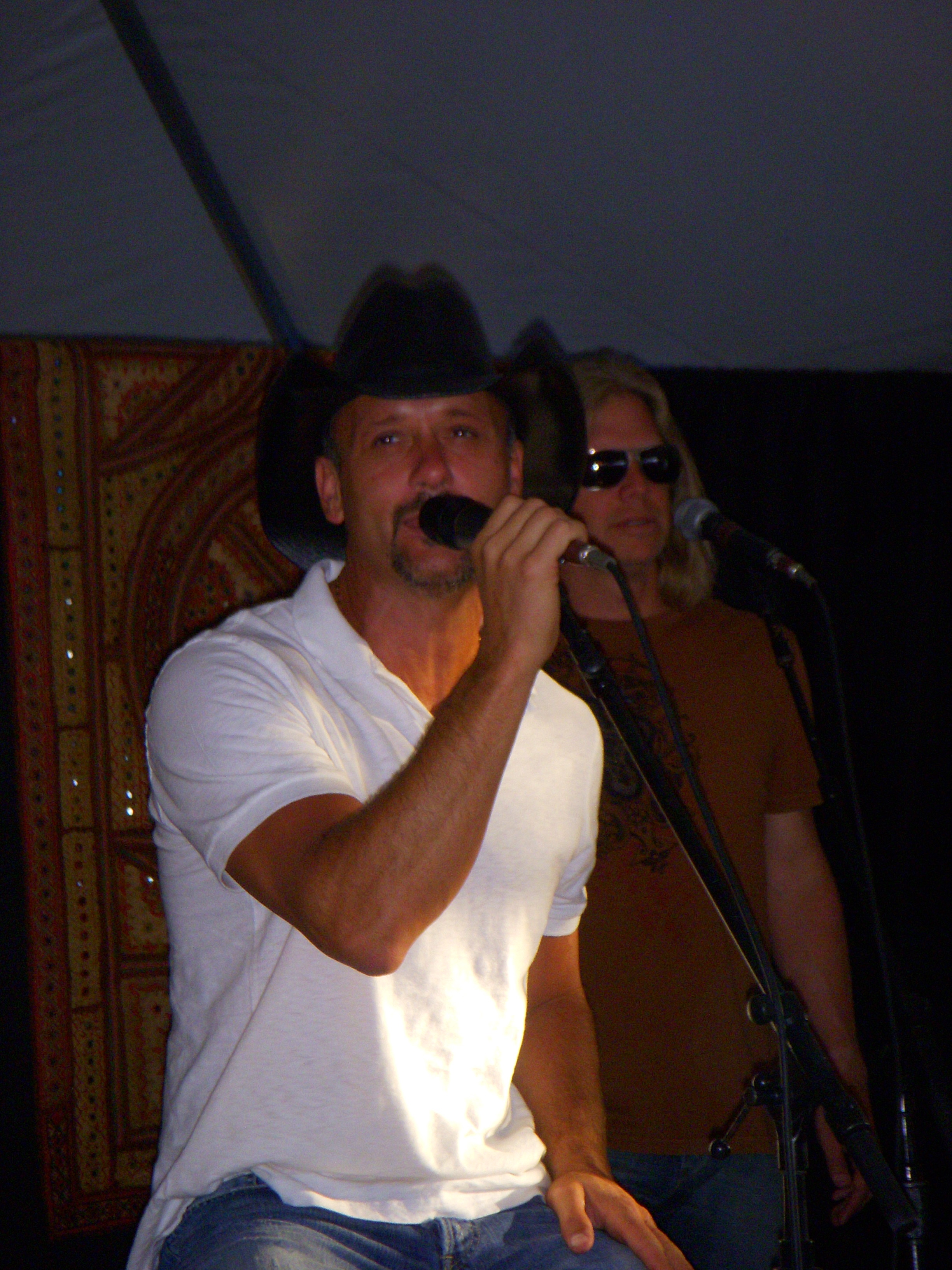 with Tim McGraw and asked